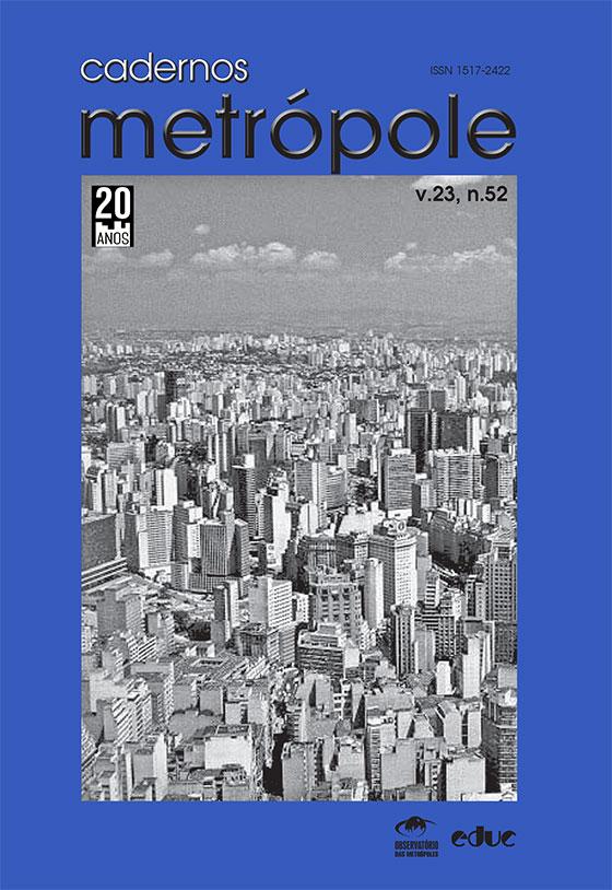 Capa Cadernos Metrópole 52