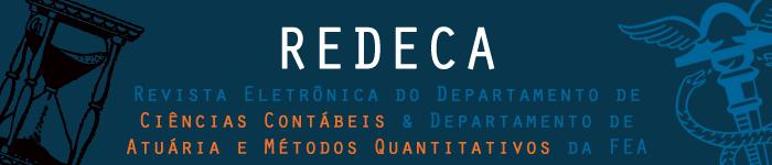 REDECA REVISTA ELETRÔNICA DO DEPARTAMENTO DE CIÊNCIAS CONTÁBEIS E DEPARATAMENTO DE ATUÁRIA E METÓDOS QUANTITATIVOS DA FEA